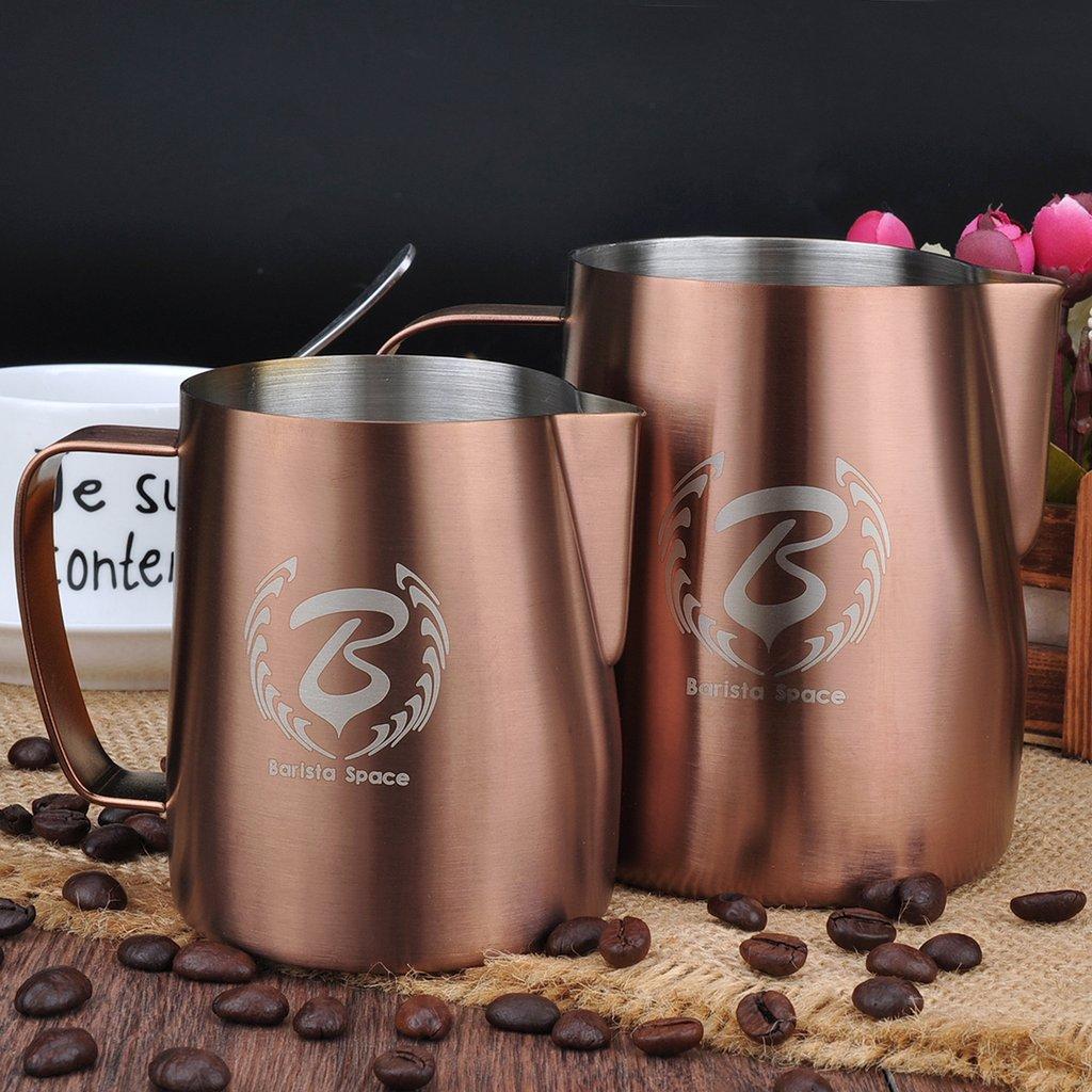 Barista Space 1.0 350ml Pitcher For Coffee Latte Art Copper
