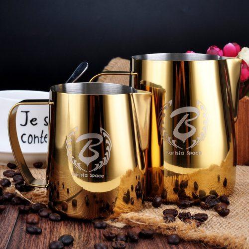 Barista Space 1.0 Pitcher Milk Jug Golden