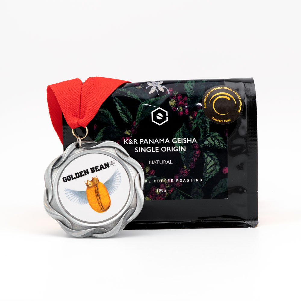 K&R PANAMA Geisha Natural Single Origin Whole Bean Coffee