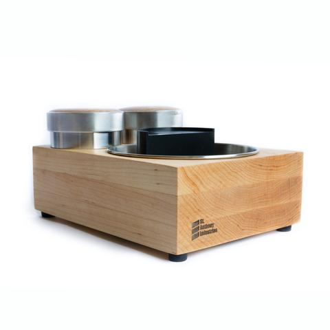 Saint Anthony Industries Bloc tamp station and knock box Maple