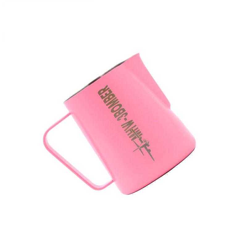 Coffee Steaming Pitcher Milk Jug 600ml Pink