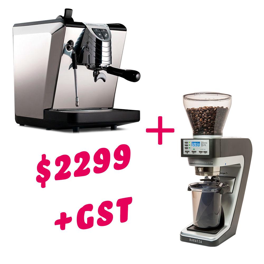 Oscar II Domestic Espresso Machine + Sette 270 Grinder Bundle
