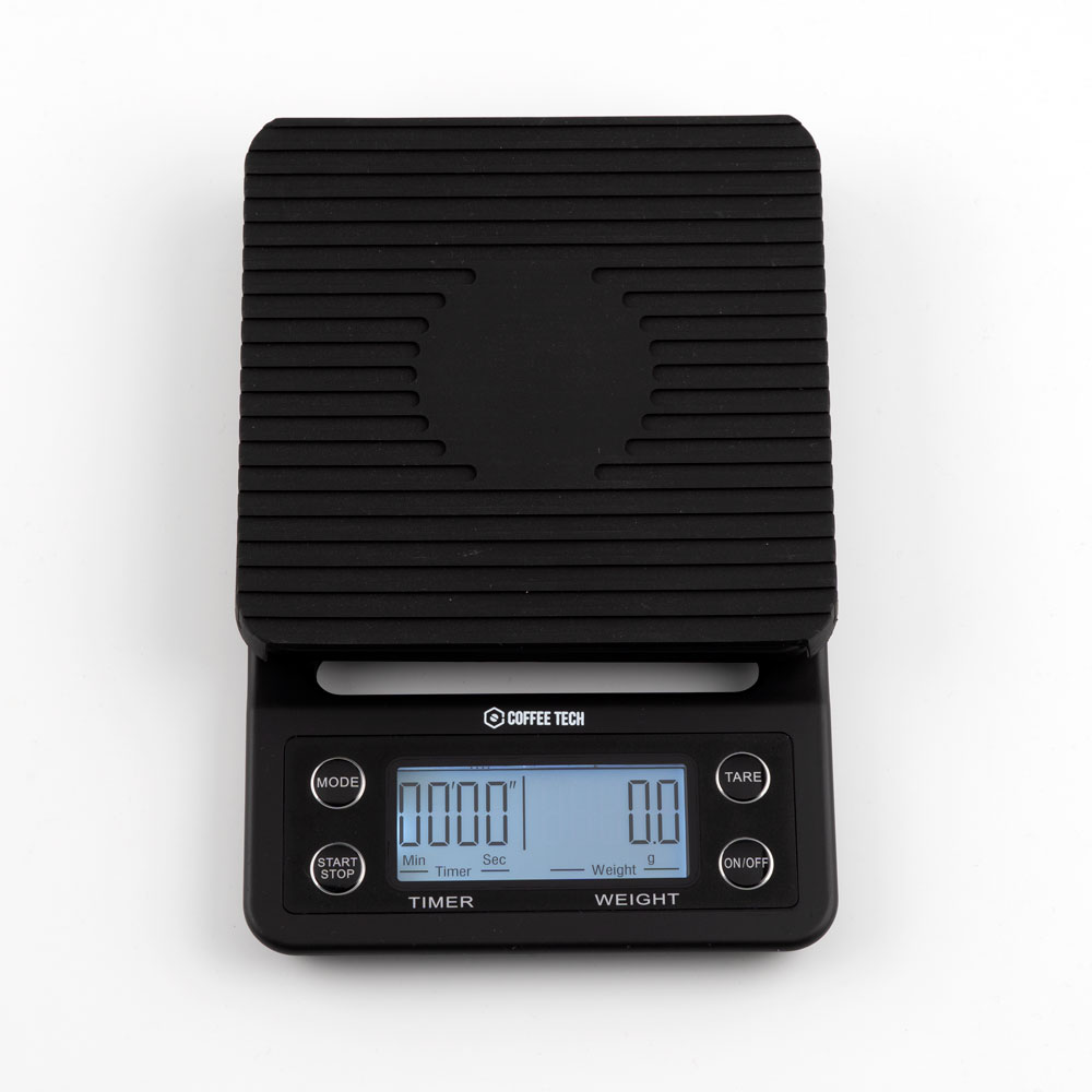 COFFEE TECH Professional Coffee Scales with Timer Max 5000 g - Precision 0.1 g