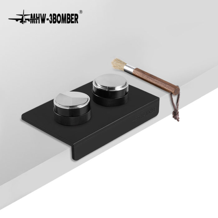 MHW-3BOMBER Coffee Tamper and Distributor Black